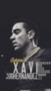 Xavi career overview wallpaper