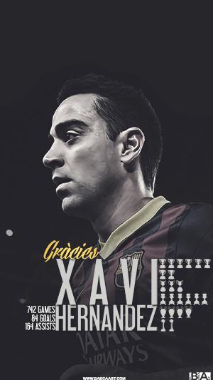 Xavi career overview wallpaper