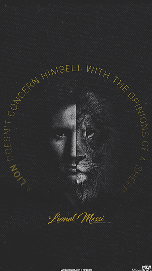 messi lion