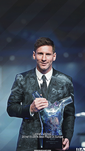 Messi UEFA player of the year wallpaper