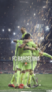 FC Barcelona team celebration wallpaper
