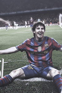 Messi celebration corner wallpaper