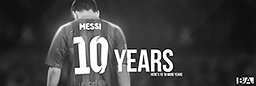 Messi 10 Years Header