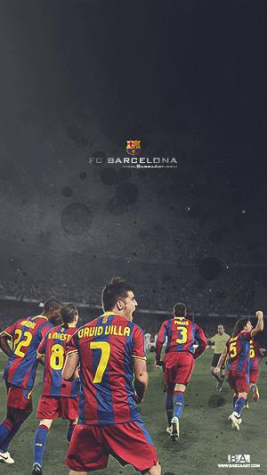 FC Barcelona goal celebration wallpaper
