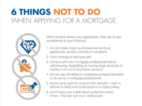 6 THINGS NOT TO DO - When Applying for a Mortgage
