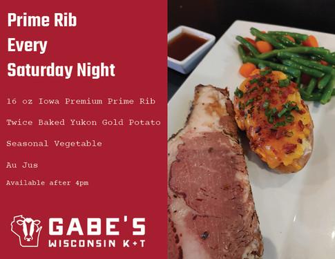 Saturday Night Prime Rib
