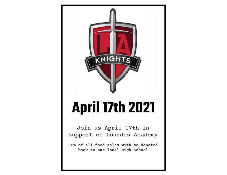 Lourdes Academy Knight Fundraiser 4.17.2