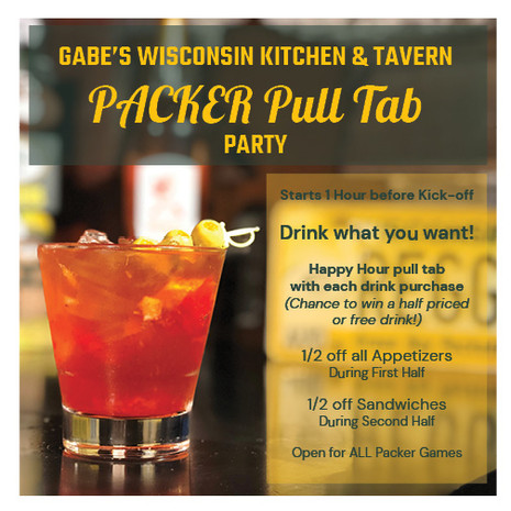 Packer Pull Tab Party Old fashioned pic.