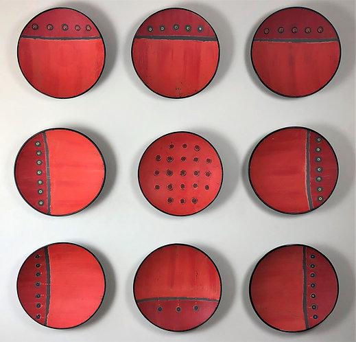 Red Orange Stud Installation
