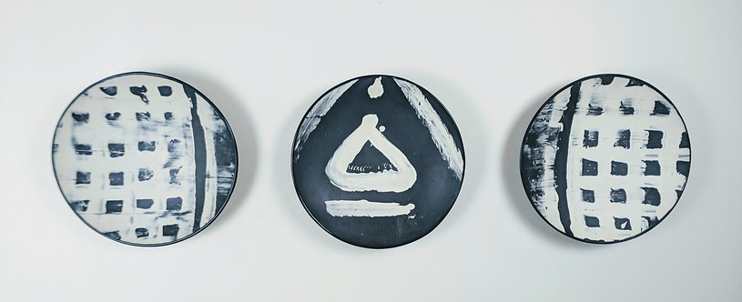Black and Cream set of 3