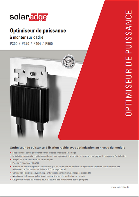OPTIMISEUR SOLAREDGE