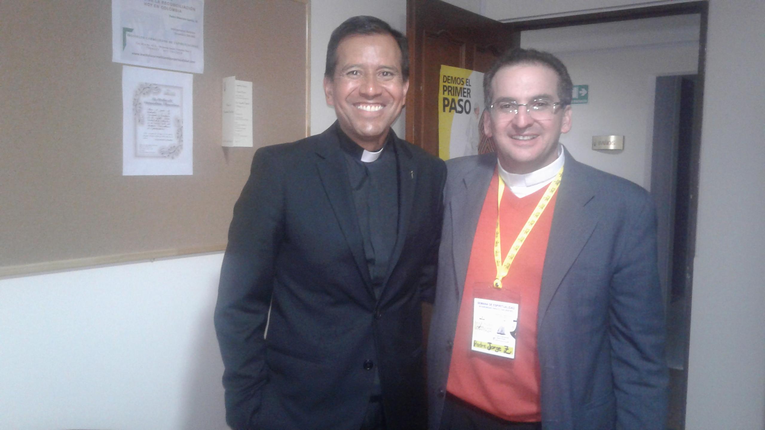 Padre Juan Granados y Jorge Zurek