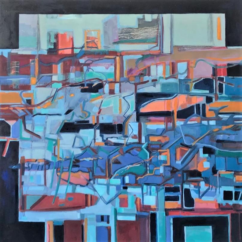 PR Tarbll_Journey_36 x 36 in_oil on canvas_Award winner, Hopkinton Arts Center, MA, 2021.j