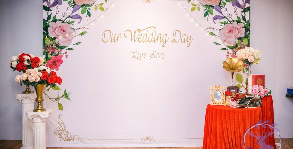 麋鹿小姐婚禮背板 背板出租 台北婚禮背板 |浮花茜影