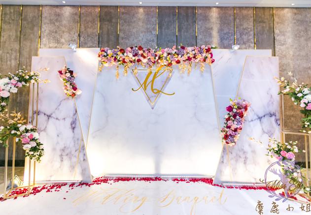 麋鹿小姐 公版婚禮背板套組 l  婚禮佈置  古典胭脂