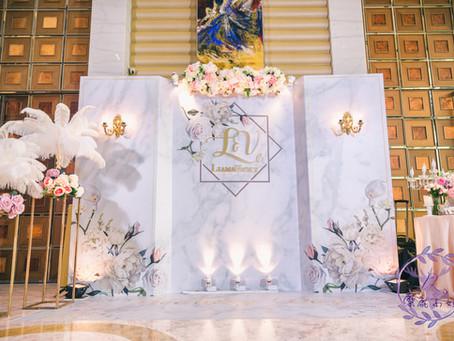 花綻大理石婚禮背板 |  大直典華
