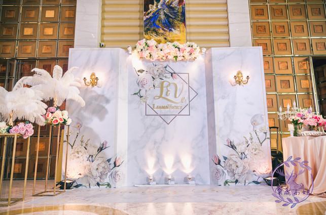 麋鹿小姐 公版婚禮背板套組 l  婚禮佈置  花綻大理石