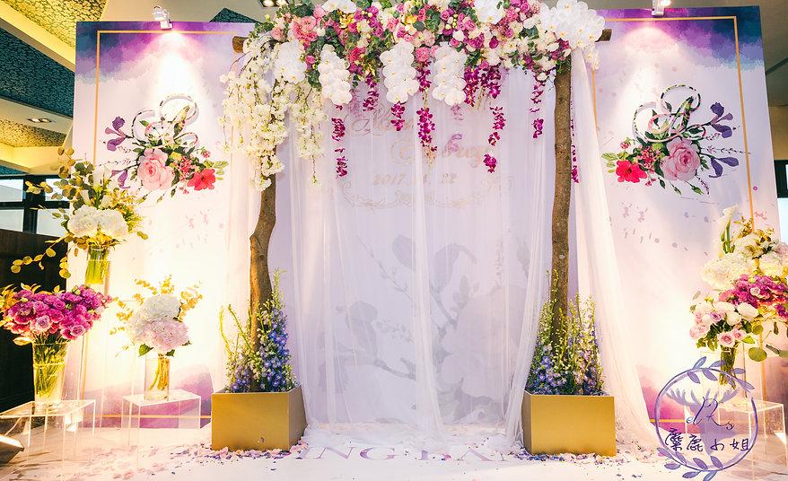 麋鹿小姐婚禮背板 桃園晶麒莊園