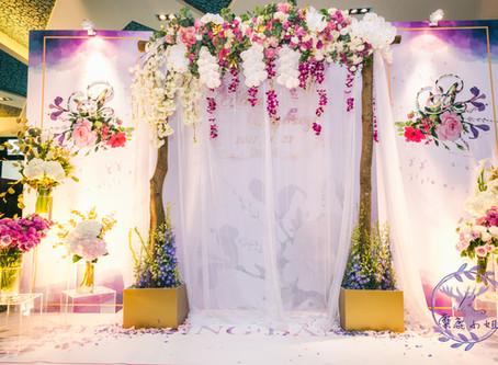 客製婚禮背板 綺麗花園  夢幻婚禮會館 桃園晶麒莊園