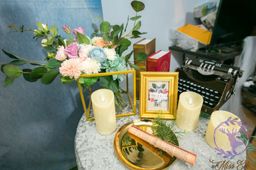 麋鹿小姐 婚禮背板出租 台北婚禮背板 背板租借|水墨花語