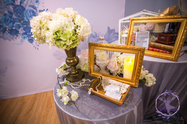 麋鹿小姐 婚禮背板出租 台北婚禮佈置 背板出租  |靜謐藍