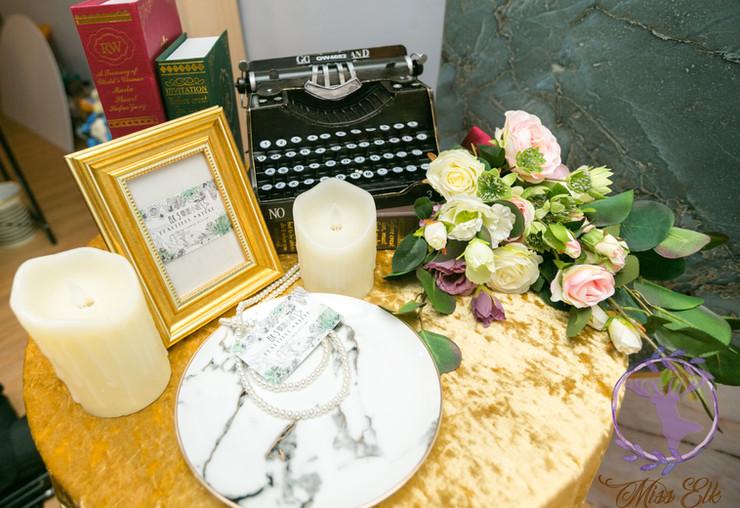 麋鹿小姐 婚禮背板出租 l 微醺旋曲大背板