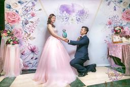 麋鹿小姐 婚禮背板出租 l 花愛呢喃