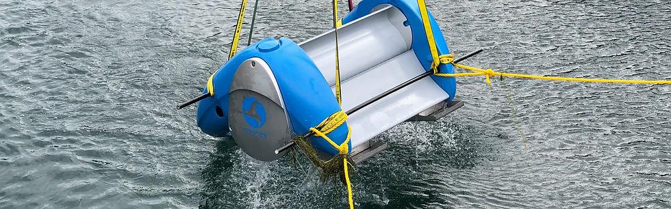 Waterotor  Testing Ottawa going in Water