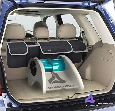 DynoRotor 275 watt in back of SUV March