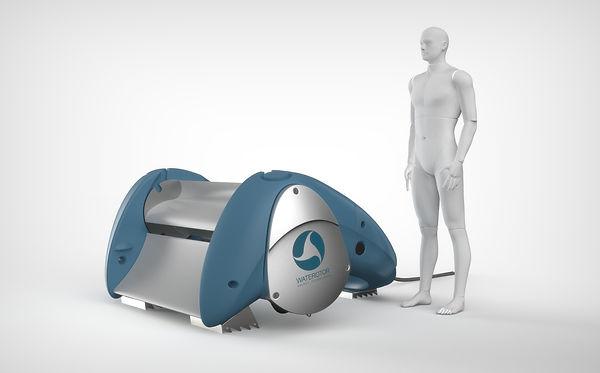 Waterotor 1kW Turbine with Man.jpg