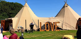 Two Tipis Linked