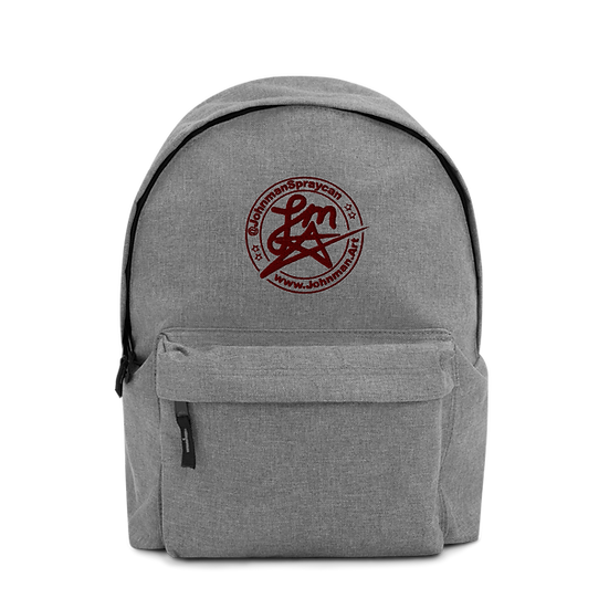 Embroidered Backpack - Johnman Spraycan Tag