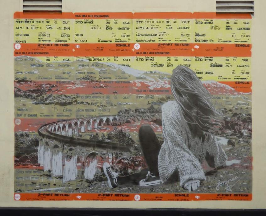Johnman The Viaduct Mural - Cheltenham 2019