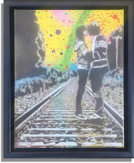 Teenage Kicks - Yellow Abstract AP