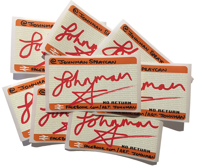 Johnman Hand Signed Stickers