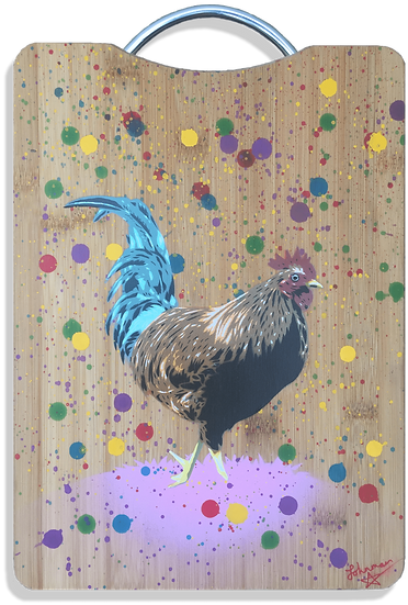"""Bantam"" - Original on Bamboo Chopping Board"