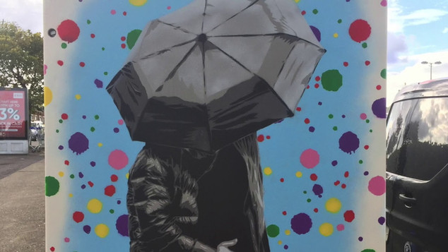 "Johnman ""Embrace the Rain"" Dublin Canvas Street Art"