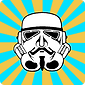 Johnman Spraycan 99% Stormtrooper Logo. Guy Fawlkes / V for Vendetta Mask