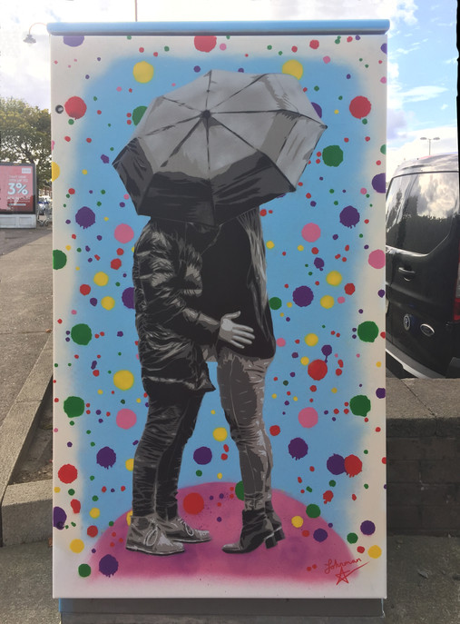 Johnman - Embrace the Rain (recto), Dublin Canvas 2020