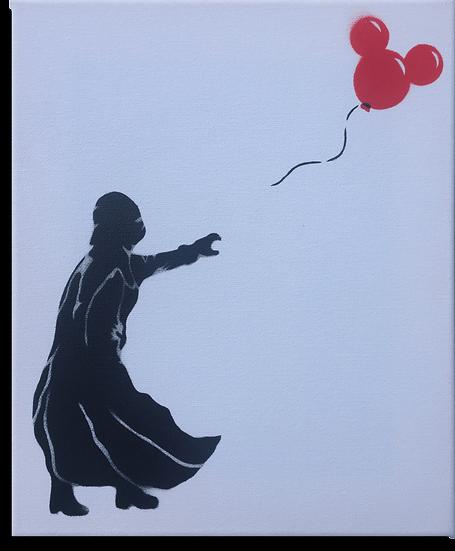 Darth Vader with Balloon (Small) - Original Canvas