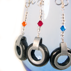 Motorcycle Tire Wine glass charms