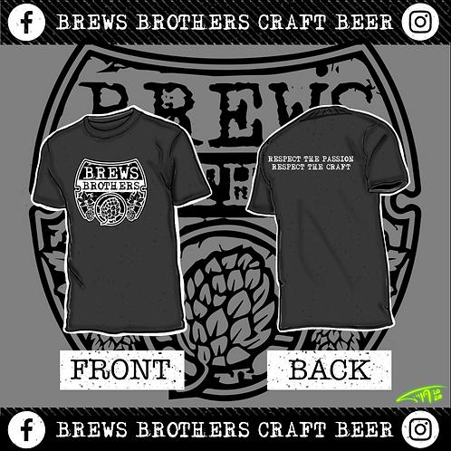 Brews Brother's - Men's Crew Neck -Charcoal