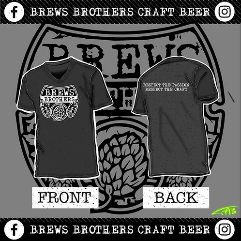 Brews Brother's - V-Neck - Charcoal