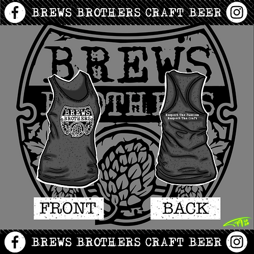 Brews Brother's - Woman's Tank Top - Charcoal