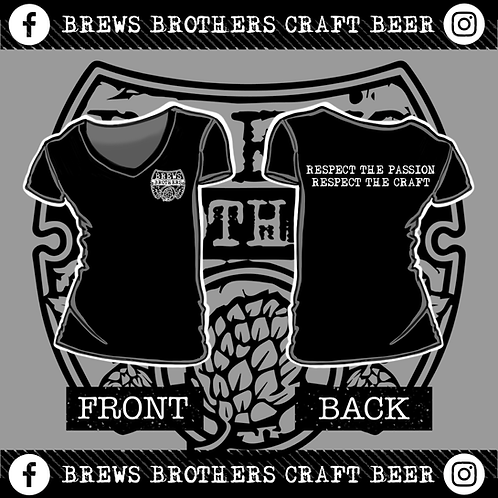 Brews Brother's - Woman's V-Neck - Black