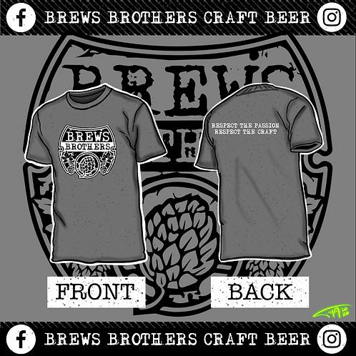 Brews Brother's - Men's Crew Neck - Heather Grey
