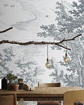 Papier peint panoramique forêt Brushwoo