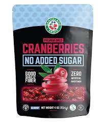 No Added Sugar Dried Cranberries
