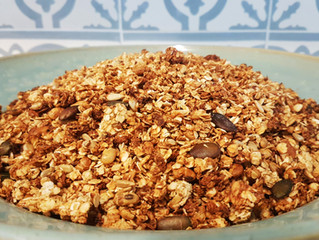 Rezept: Orangen-Kokos-Ingwer Granola