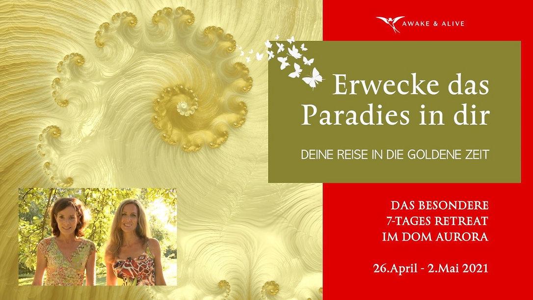 Erwecke das Paradies Titel mit Datum 202